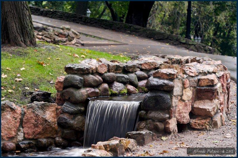 kaskady wodne na gōrce Bastejkalns