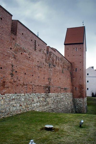 Fragment murów obronnych od północnej strony